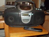 JVC Portable Radio,Tape and CD Player/Boom Box