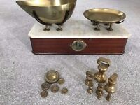 Antique balance scales by Parnall & Sons, Bristol.