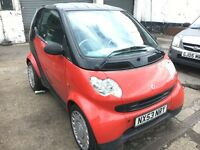 Smart City Coupe 0.7 52,000 miles, Full auto model