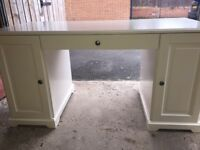 White, solid wood Ikea desk