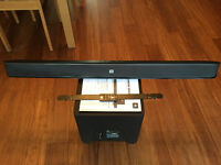Soundbar. JBL Cinema SB400 powered soundbar and wireless active subwoofer as new!