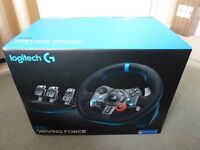 LOGITECH G29 DRIVING FORCE WHEEL AND PEDALS - PS4 AND PS3