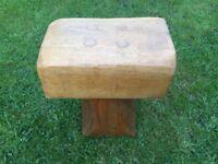 Handmade solid oak garden stools