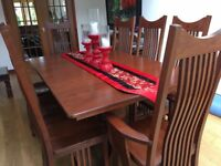 Cherrywood dining table & chairs