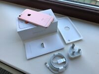 Boxed & unlocked 64GB iPhone 6s in Rose Gold + case