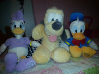 4 x DISNEY SHOP GENUINE CLUBHOUSE DAISY DONALD PLUTO GOOFY PLUSH SOFT TOYS APPROX 15 INCHES TALL