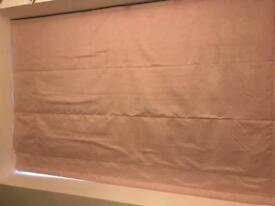Pink blackout roman blind 170.5cm wide 101cm drop