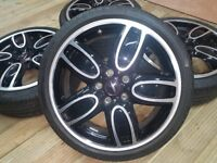 "18"" GENUINE MINI F55 F56 F57 JOHN COOPER WORKS JCW CUP SPOKE 509 NOT TRACKS"