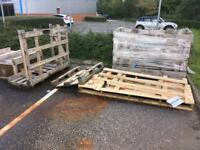 Wooden crates pallets