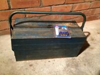 Old metal cantilever tool box