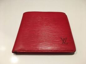 Genuine LV Louis Vuitton Marco wallet EPI leather red, rrp €650!!