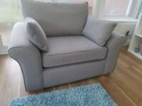 Next Large Grey checked snuggle chair. Very comfy