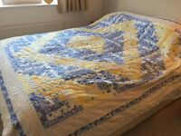 Patchwork Double Bedspread Marks and Spencer + cushion cover