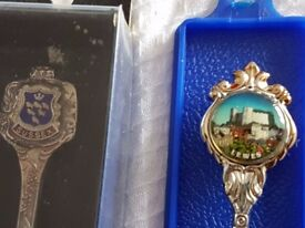 Collectors spoons of Sussex silver plated.