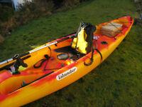 Islander sit on top kayak. Angler version