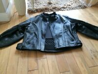 Frank Thomas motor bike leather jacket and Lewis leather trousers both in excelent condition.