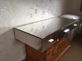 Mirrored Dressing Table Top Only