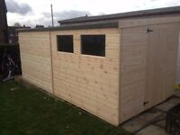 GARDEN PENT SHED/WORKSHOP 10X8 HEAVY DUTY ..WELL MADE..SHEFFIELD-BARNSLEY CHESTERFIELD NOTTINGHAM