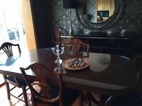 Oval Mahogany Dining Table with 6 Chairs