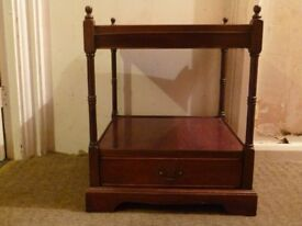 Lovely dark wood table with storage draw