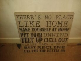 No place like home canvas