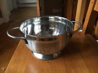 STAINLESS STEEL COLANDER - TWO AVAILABLE