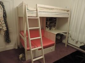 High sleeper bed with desk and pull out sofa bed