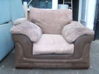 DFS SOFA ARMCHAIR VERY COMFY HALF SUEDE HALF VELVET MATERIAL REMOVABLE COVERS DELIVERY FREE MCR