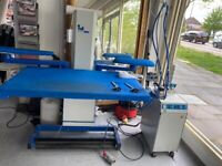 Industrial Iron Table, Steam Generator and Iron for garment industry, studios and tailor shops