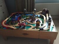 Imagination universe wooden train table