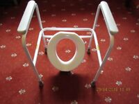 Mobile toilet seat and frame