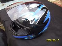 FM Full face helmet,unmarked,worn twice only by pillion,size 58.