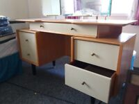 wooden dressing table, retro style. used but good condition