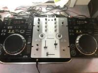 2 x Pioneer CDJ 350 DJM 250 Mixer