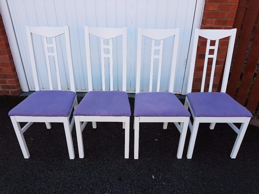 4 White Dining Chairs FREE DELIVERY 010