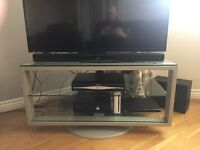 IKEA glass TV and media stand