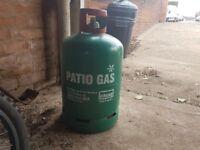 Green gas bottle full