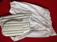 Youth cricket thigh pad shorts and protectors