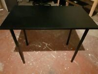 Black desk table