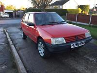 1990 Peugeot 205 GL 1.1 LOW MILEAGE, ORIGINAL WHEELS INCLUDED