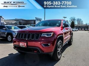 2017 Jeep Grand Cherokee TRAILHAWK 4X4, LUXURY GROUP, GPS NAV, D