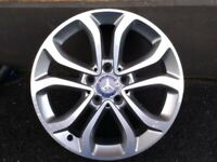 "17"" GENUINE MERCEDES C CLASS SPORT W205 ALLOY WHEEL 14-18 FULL SIZE SPARE"