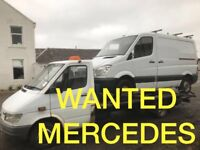 MERCEDES BENZ VAN ANY CONDITION WANTED!!!!