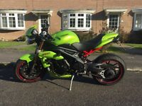 Superb Speed Triple 1050, custom 8 Ball Roulette Green paint work with lots of added extras!!!