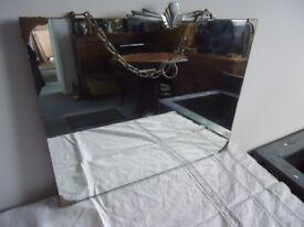 Vintage Art Deco Mirror with chain