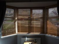 Oak wooden blinds (1 large, 2 small)