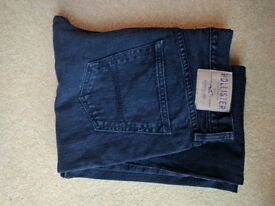 Mens 34x34 black Hollister Boot Cut Jeans hardly worn