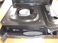 BRAND NEW PORTABLE ONE RING GAS STOVE IN CARRY CASE. NEVER USED £10.00