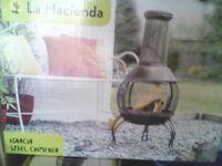 Chimenea, brand new in sealed box.
