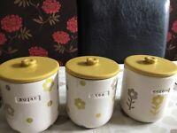 Tea , coffee , sugar storage jars